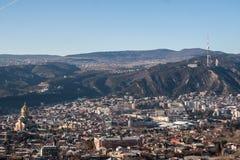 Vue de la ville de Tbilisi Photographie stock
