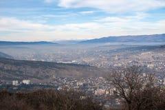 Vue de la ville de Tbilisi Images stock