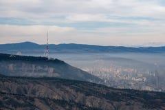 Vue de la ville de Tbilisi Image libre de droits