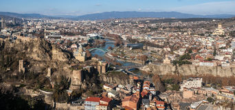 Vue de la ville de Tbilisi Photos stock