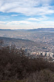 Vue de la ville de Tbilisi Tbilisi Photo stock