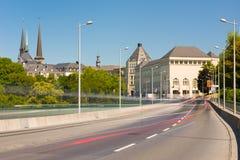Vue de la ville du Luxembourg photo libre de droits