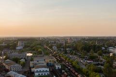 Vue de la ville du rail de toit Images libres de droits