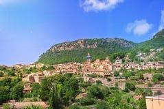 Vue de la ville espagnole médiévale antique Photographie stock libre de droits