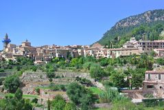Vue de la ville espagnole médiévale antique Photo stock