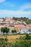 Vue de la ville et du château, Silves, Portugal Photo libre de droits