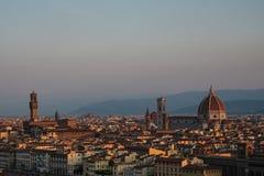 Vue de la ville de Florence tôt le matin photo stock