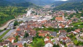 Vue de la ville Gernsbach banque de vidéos