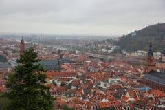 Vue de la ville Heidelberg Images libres de droits