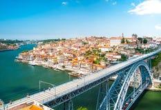 Vue de la ville historique de Porto Image stock