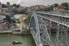 Vue de la ville historique de Porto, Portugal Photographie stock libre de droits
