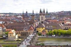 Vue de la ville historique de Wurtzbourg photographie stock