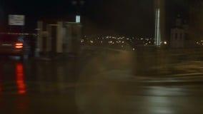 Vue de la ville de nuit banque de vidéos