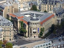 Vue de la ville de Paris de la taille de Tour Eiffel photographie stock libre de droits