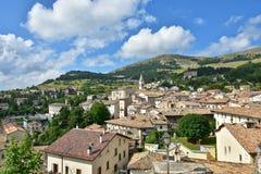Vue de la ville de Pescocostanzo, dans la région de l'Abruzzo photo stock