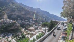 Vue de la ville de Positano, Italie image libre de droits