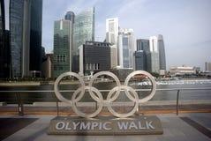 Vue de la ville, Singapour Images stock