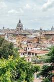 Vue de la ville de la villa Borghese à Rome photo libre de droits