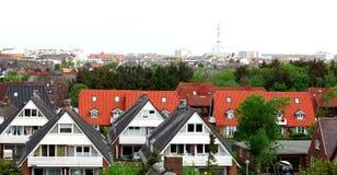 Vue de la ville Westerland photographie stock libre de droits