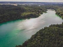 Vue de lac à partir de dessus image stock