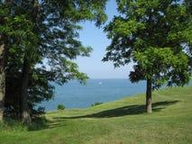 Vue de lac Photographie stock
