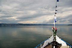 Vue de lac, arc de Stadt Rapperswil Photos libres de droits