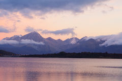 Vue de lac Campotosto Photographie stock libre de droits