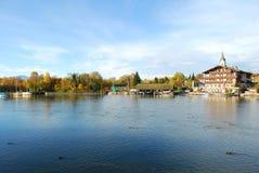 Vue de lac Chiemsee en automne Photos libres de droits