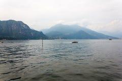 Vue de lac Como et de ville de Bellagio Images libres de droits
