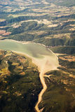 Vue de lac Corbara (Italie) photographie stock