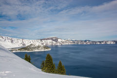 Vue de lac crater Image libre de droits