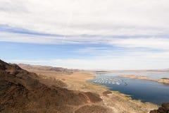 Vue de lac dans le barrage de Hoover Photo libre de droits
