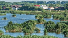 Vue de lac - destination de Tulcea de delta de Danube images stock