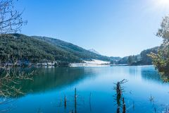Vue de lac Doksa photos libres de droits
