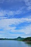 Vue de lac du barrage Images libres de droits