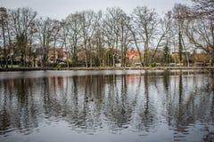 Vue de lac en Europe Photos stock