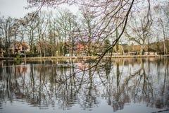 Vue de lac en Europe Image libre de droits