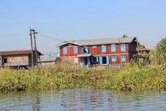 Vue de lac Inle dans Myanmar Image libre de droits