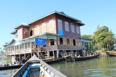 Vue de lac Inle dans Myanmar Images stock
