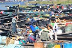 Vue de lac Inle dans Myanmar Photo stock