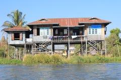 Vue de lac Inle dans Myanmar Photographie stock
