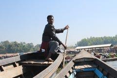 Vue de lac Inle Myanmar Photos libres de droits