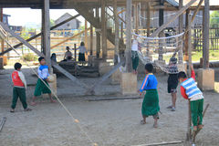 Vue de lac Inle Myanmar Image libre de droits