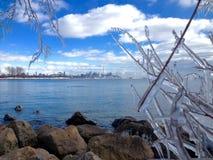 Vue de lac de la ville de Toronto Images libres de droits