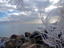 Vue de lac de la ville de Toronto Photographie stock