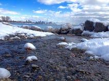 Vue de lac de la ville de Toronto Image libre de droits