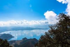 Vue de lac Lugu Photo libre de droits