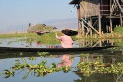 Vue de lac myanmar Inle Image stock