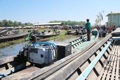 Vue de lac myanmar Inle Images libres de droits