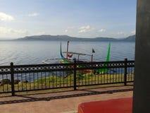 Vue de lac Taal images libres de droits